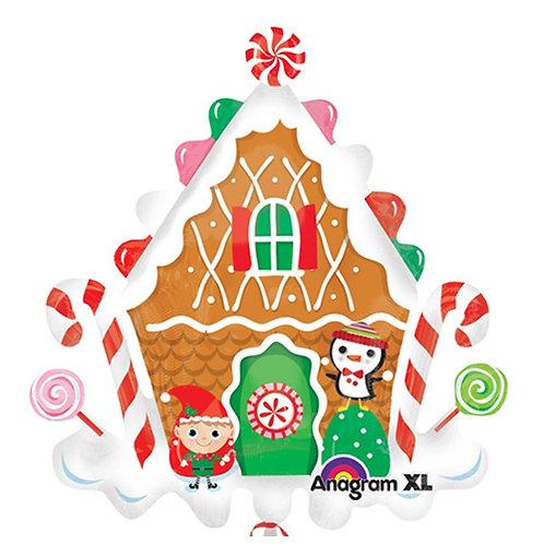 "40"" Christmas Candy House Helium Balloon - x22"