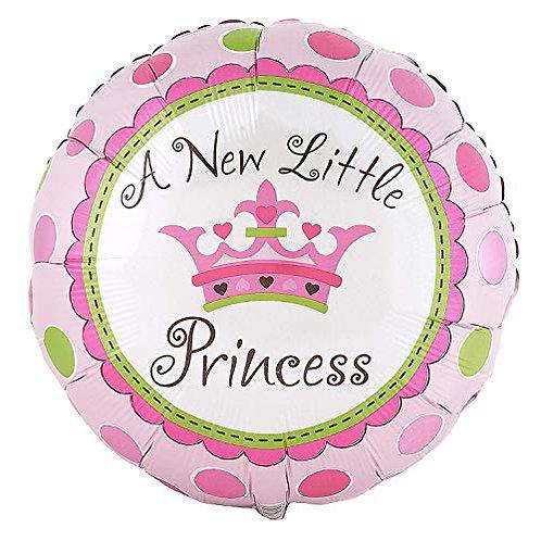 "18"" Baby Princess Crown Dot Pattern Helium Balloon - bb35"