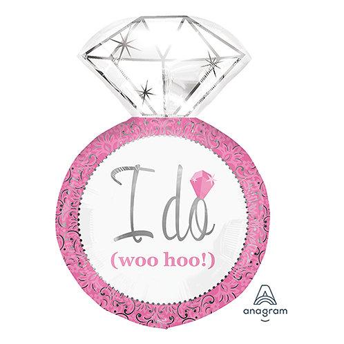 "30"" Pink Wedding Diamond Ring ""I DO"" Wedding Helium Balloon - lv06"
