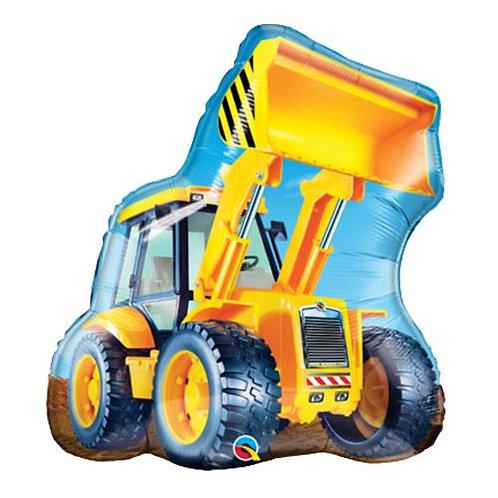 "40"" Yellow Construction Truck Helium Balloon - y116"