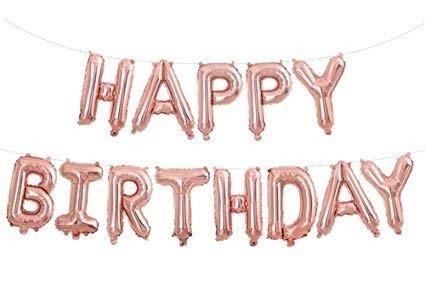 "14"" Rose Gold HAPPY BIRTHDAY Letters Balloon - 14RGHBD"