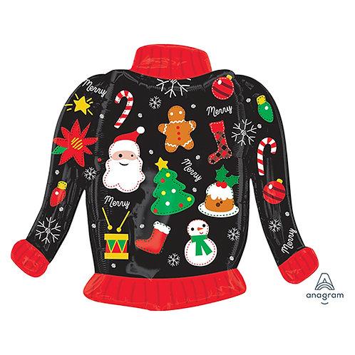 "30"" Christmas Sweater Helium Balloon - x15"