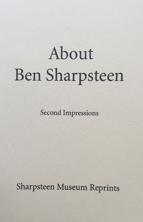 About Ben Sharpsteen, Compiled by Barbara Neelands
