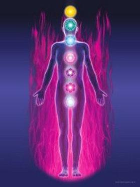 Violet Flame Chakra Meditation Poster