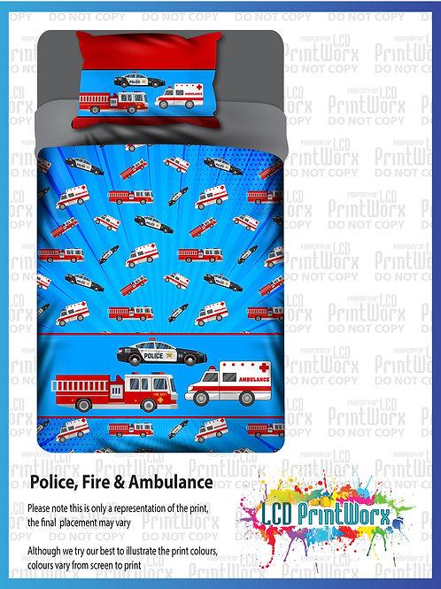 Police Firetruck Ambulance