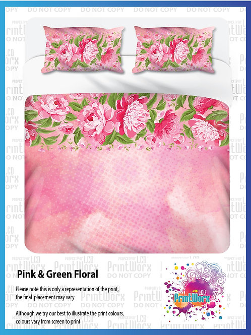 Pink & Green Floral