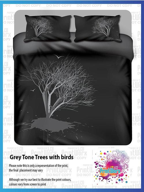 Grey Tone Trees with birds