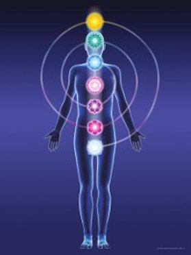 Tau Spiral Chakra Meditation Poster