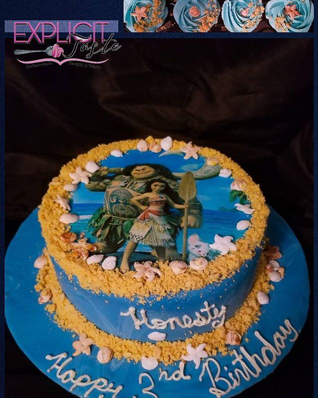 Moana inspired cake! #allthingsedible, #