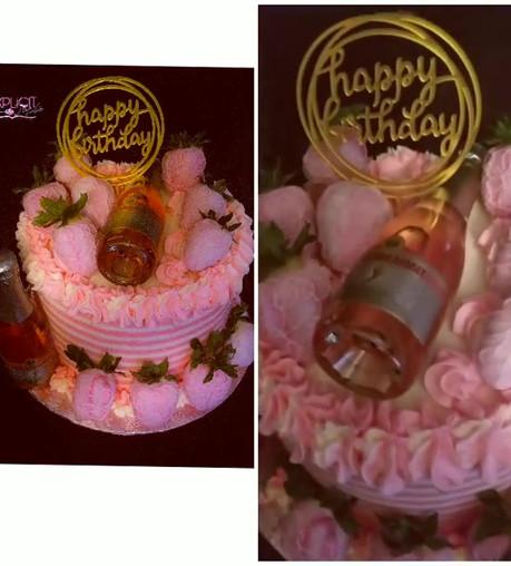 #barefootmoscatocake, #strawberrycake,#a