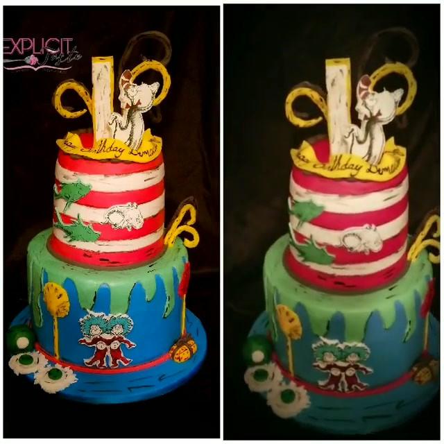 Dr. Suess themed cake!!! #daretobediffer