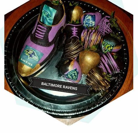 All chocolate male shoe! #baltimoreraven
