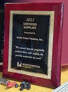 Worhington Supplier Award