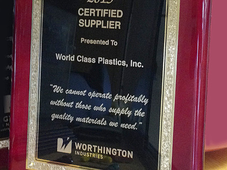 Worthington Cylinders Recognizes World Class Plastics