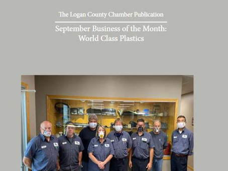 World Class Plastics is the Logan County Chamber of Commerce September Business of the Month