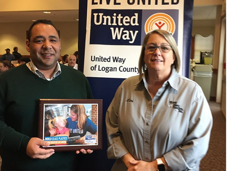World Class Plastics receives Silver Award from United Way of Logan County