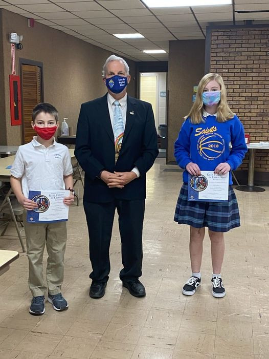 Congratulations to Our Keep Christ in Christmas poster winners!