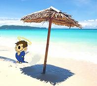 saint on spring break beach2.jpg