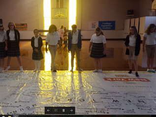Students Interact with Giant Map of New York