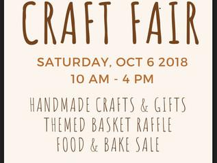 Fall Craft Fair - Saturday Oct 6th