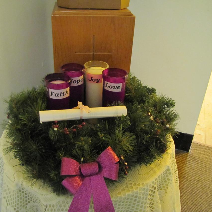 School Advent Wreath