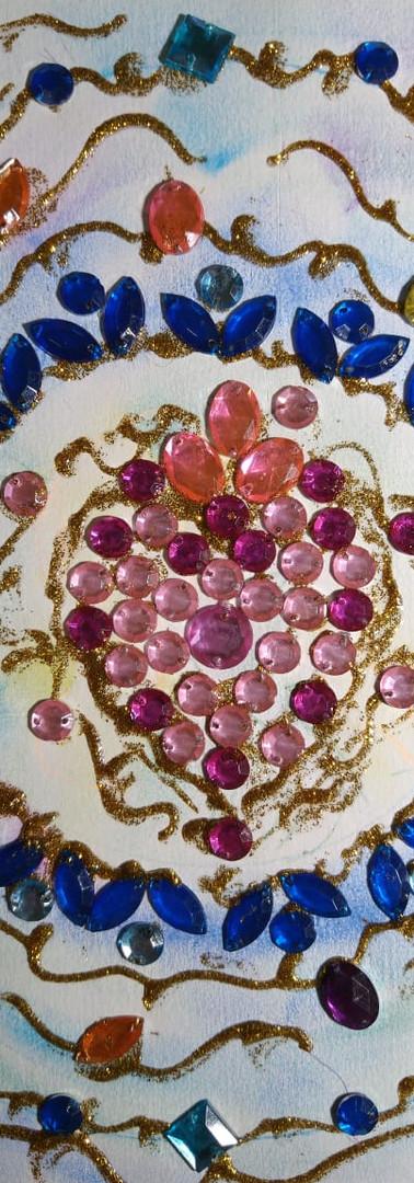 Mandala feita por Vera Chagas - Caminho alegre