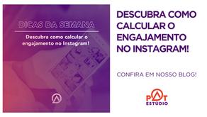Fórmula para calcular o engajamento de uma publicação do Instagram