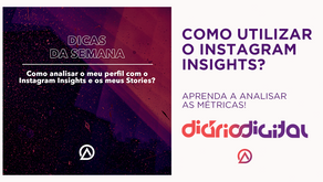 Métricas do Instagram Insights para o perfil e stories