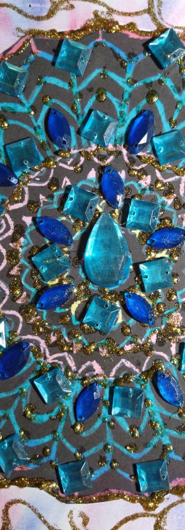 Mandala feita por Vera Chagas - Azul de Pax
