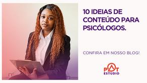 10 ideias de conteúdo de redes sociais para psicólogos
