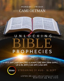 Unlocking Bible Prophecies- cami oetman.