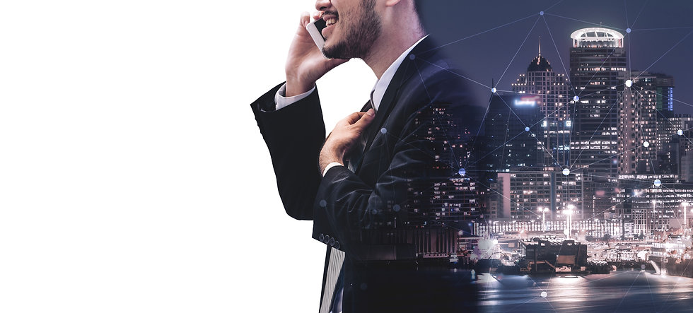 double-exposure-image-business-communica