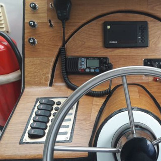 phone charger and GPS depth sounder and