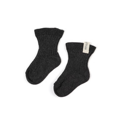 Ribbed-baby-socks-charcoal