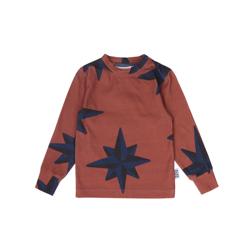 Longsleeve-Blue-Compass-Brown