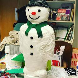 The Snowman Window Display Sculpture