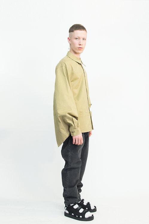 beige shirt