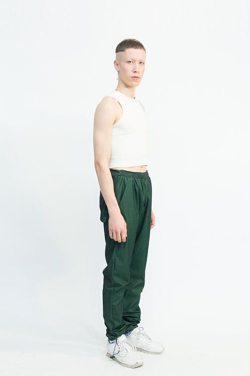 pocketed track pants