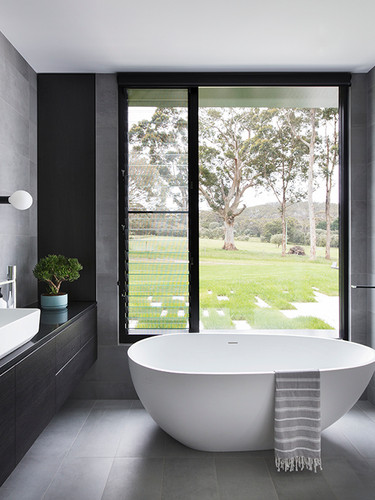 Window and louvres in bathroom