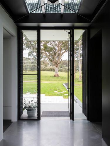 Glass surrounding front door