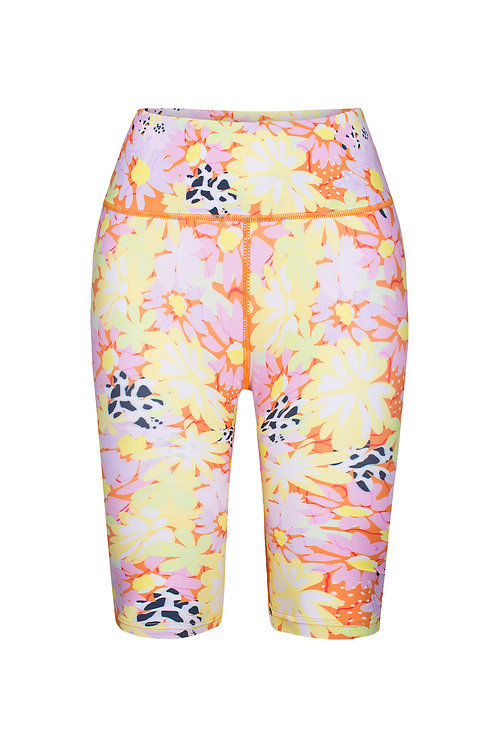 Brisas Full Bloom Print Biker Shorts