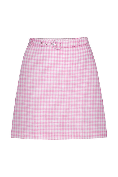 Amalfi Pink Gingham Skirt