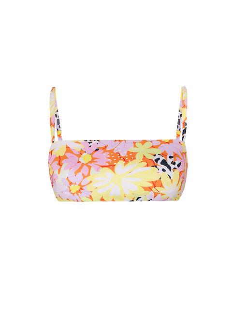 Monte Full Bloom Print Bikini Top