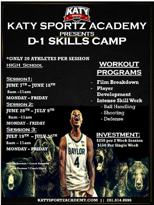 D-1 Camp (High School) - Invite ONLY