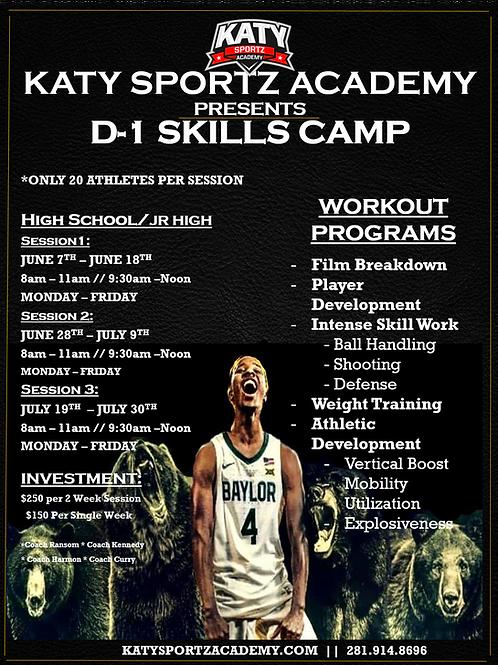 D1 Skills Camp -Invitation ONLY