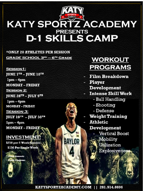 D-1 Camp (3rd-5th grade) - INVITE ONLY