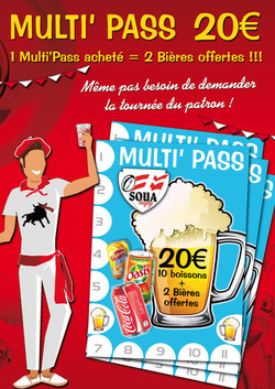 Affiche A3 pass boissons