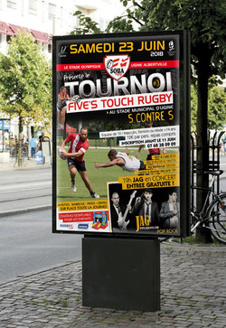 AFFICHE TOUCH RUGBY
