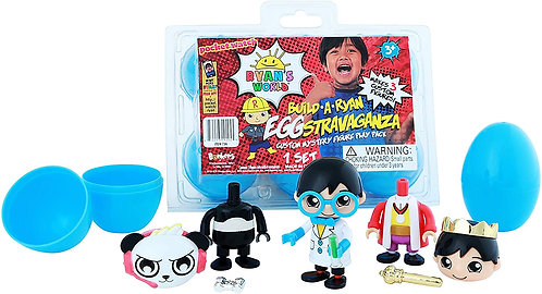 RYAN'S WORLD  Collectable Unboxing Surprise Build a Ryan stravaganza 6 Eggs