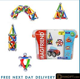 Magnetic Building Blocks Construction Educational Boys Kids Magic Toys-Small Set